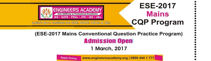 If you are looking for best and well experienced staff for the gate 2018, then visit Engineers Academy today to get quality education.Engineers Academy is the best institute for GATE, IES, PSUs, SSC.