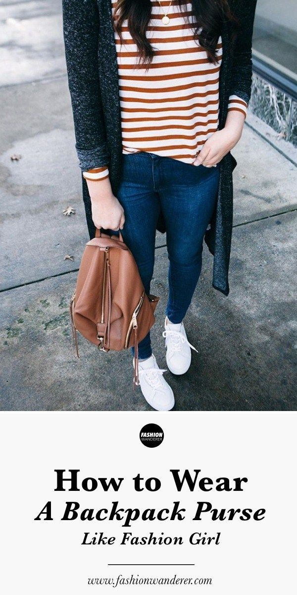 hot-selling professional undefeated x select for original How To Wear A Backpack Purse Like A Fashion Girl | Office ...