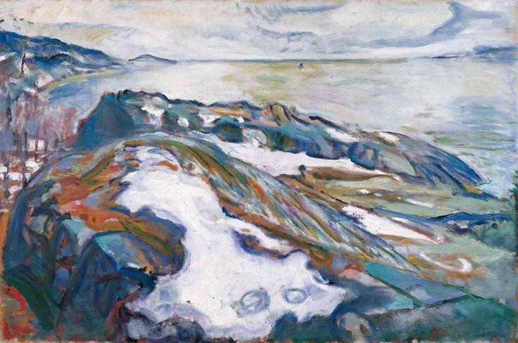 Edvard Munch Winter landscape 1915