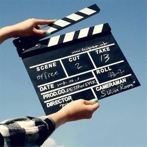 2pcs Clap Cinéma 20cm X 18cm Film Slateboard Clap en Bois Directeur Cut Action Scène