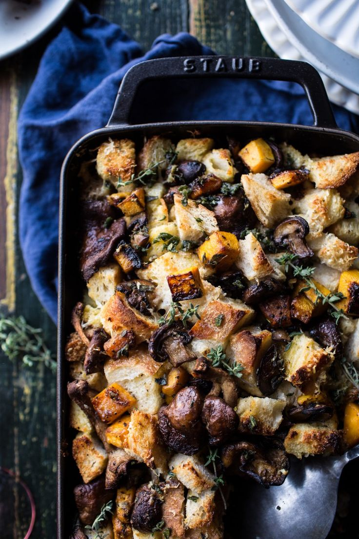 Butternut Squash and Wild Mushroom Stuffing | halfbakedharvest.com @hbharvest