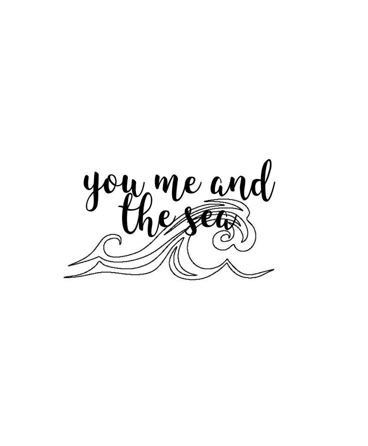 (( you me and the sea lettering ))