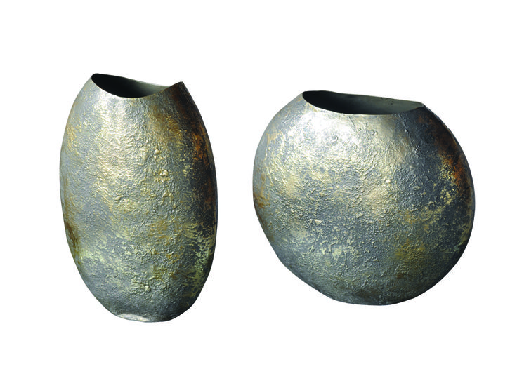 ZITA FLOWER VASE: DIMENSIONS: H24xH21 cm; PRICE: 2000/- (Set of 2); Buy Now: http://tfrhome.com/landing/productlandingpage.php?product_code=ma-45