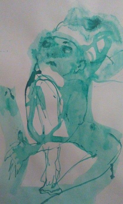 Gnom, ink on paper by Tatjana Danilovic