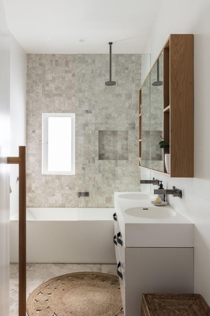 Small bathroom with bath and shower   – Bathroom