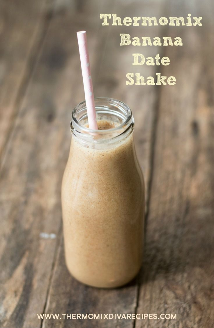 This Thermomix Banana Date Shake tastes just like caramel! Made with only four ingredients it's a quick and easy way to satisfy a sweet tooth.