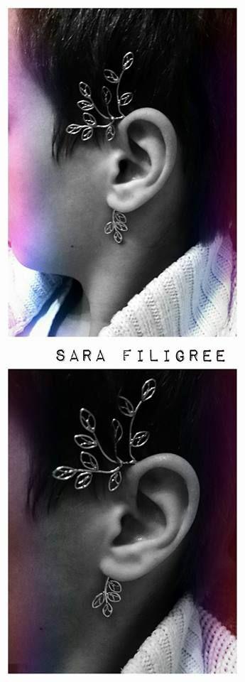 Handmade silver filigree ear cuff...