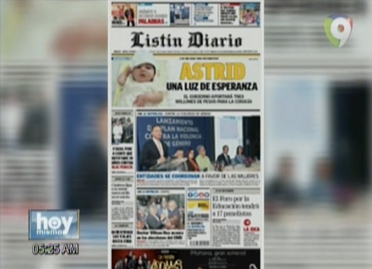 Hoy Mismo: Inicia El Día Informado Con Las Portadas De Los Principales Periódicos Del País.