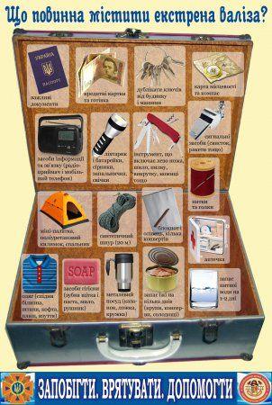 Спасатели рекомендуют жителям Закарпатья собирать экстренные чемоданы (ФОТО)