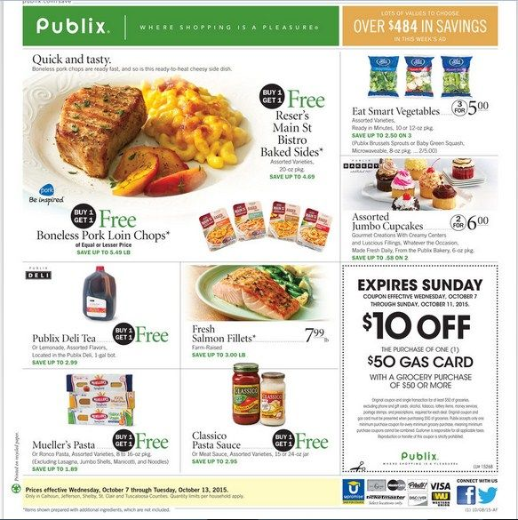 Publix Weekly Ad October 7 - 13, 2015 - http://www.olcatalog.com/grocery/publix-weekly-ad.html