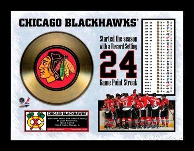 Chicago Blackhawks Gold Record - Framed Memorabilia