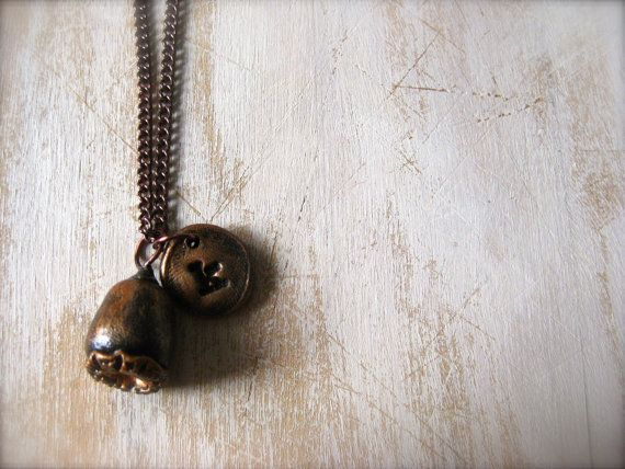 Little Pod Necklace with Personalized Charm by OpiumStudios, $12.00