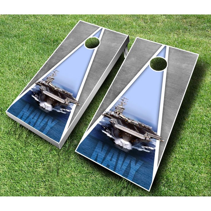US Navy Cornhole Set with Bags - US NAVY RED/ROYAL