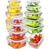 Glass Storage Containers with Lids - Glass Food Storage Containers Airtight - Glass Containers With Lids - Glass Meal Prep Containers Glass Food Containers - Glass Lunch Containers [26 Pieces]