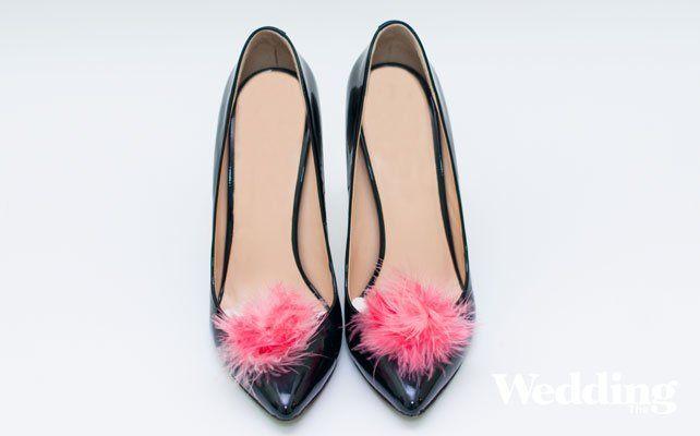 Мастер-класс: туфли с перьями для невесты и подружек невесты своими руками