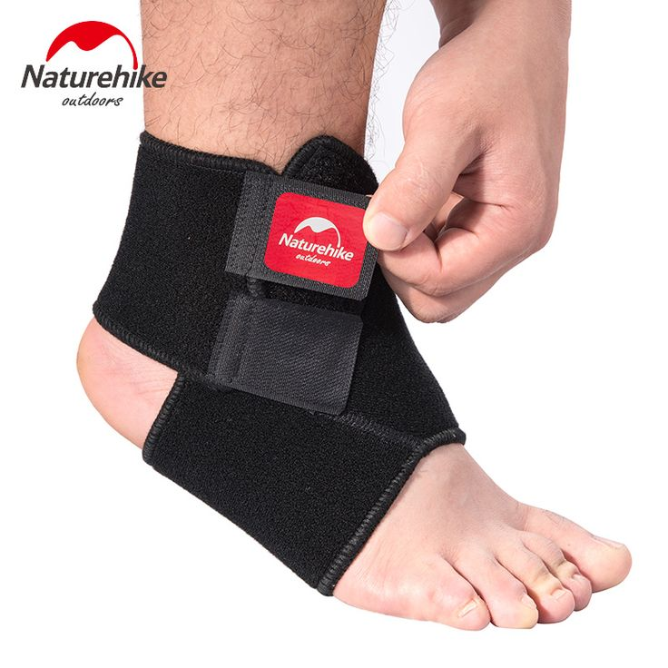 Naturehike Black Adjustable Ankle Support Pad Protection Elastic Brace Guard Support Ball Games Running Fitness