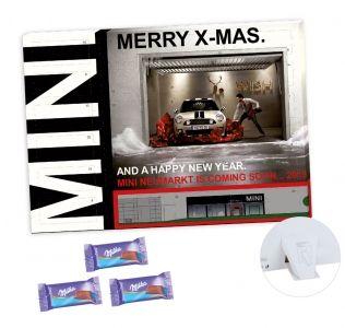 Promotional A5 advent calendar desktop Milka Chocolate Christmas advent calendar.
