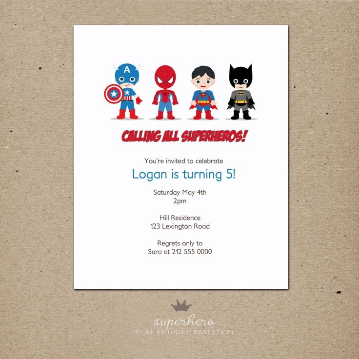 Superhero Birthday Invitations By Petitecadeau On Etsy