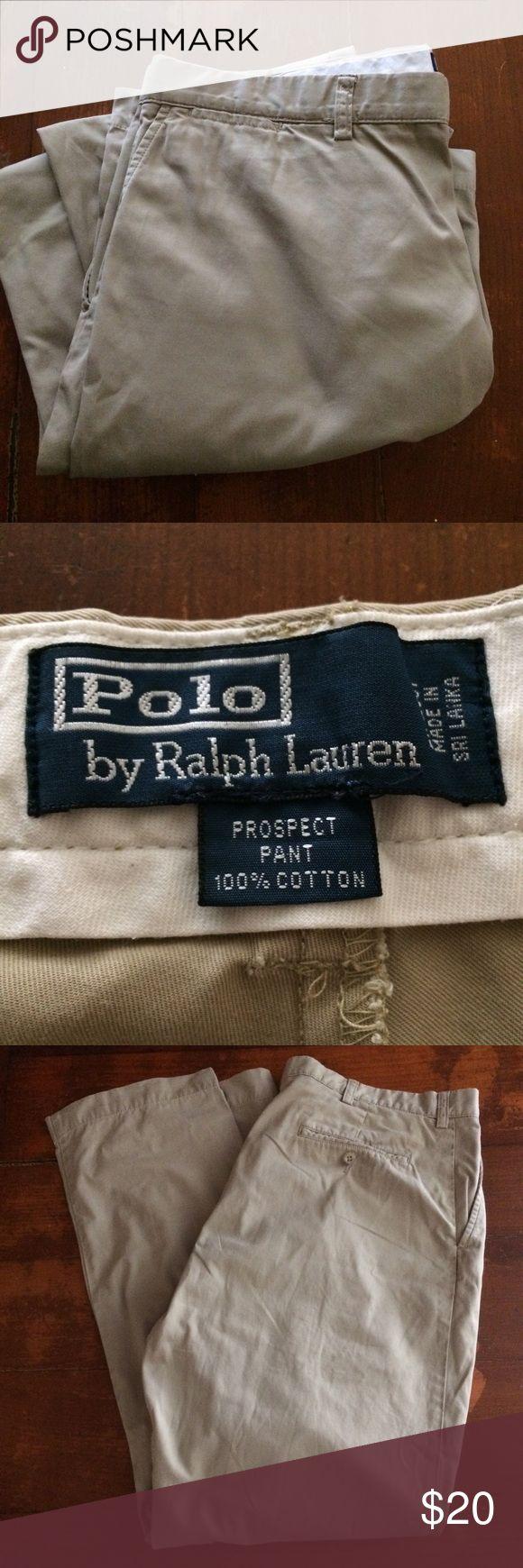 100% Cotton Polo Ralph Lauren Prospect Cut Pants 100% Cotton Polo by Ralph Lauren Prospect Cut Pants! Size 38x32, Color: Beige Polo by Ralph Lauren Pants Chinos & Khakis