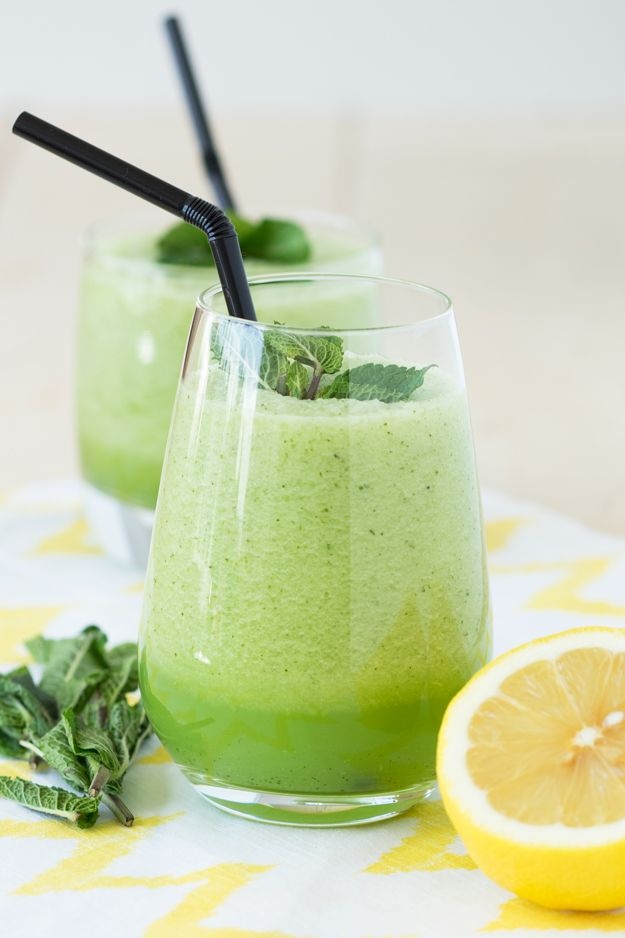 Mint Honeydew Smoothie - A refreshing summer drink!