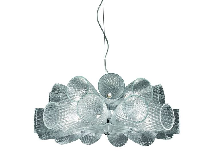 Glass Chandelier CHEERS by ITALAMP | design Stefano Traverso