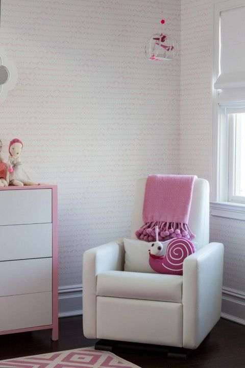 Sissy And Marley Modern Pink Nursery Rocking Chair. Photography By Marco  Ricca