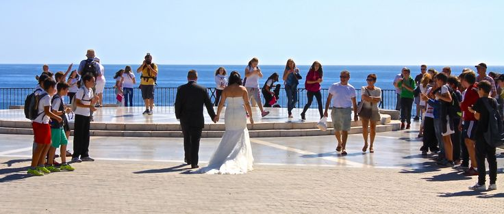 Bride & Groom on the Balcon de Europa, Nerja