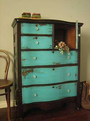 Not the same bureau, but my daughter saw this and fell in love. She now wants me to do this to her bedroom furniture.