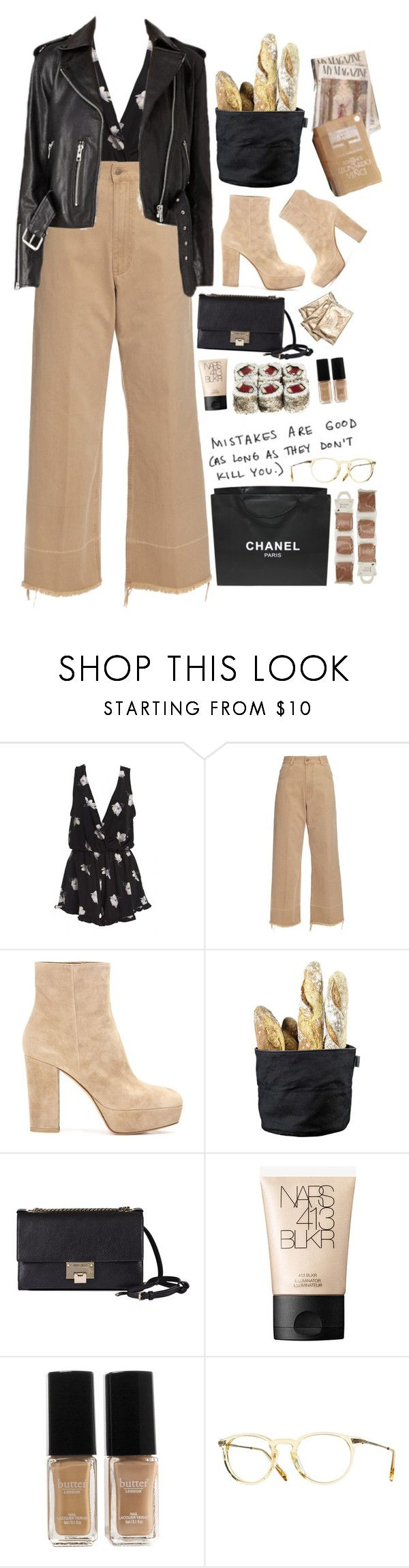 """""""Mistakes"""" by ritaflagy ❤ liked on Polyvore featuring Rachel Comey, Gianvito Rossi, Stelton, Jimmy Choo, NARS Cosmetics, Butter London, Chanel, Oliver Peoples and John Lewis"""
