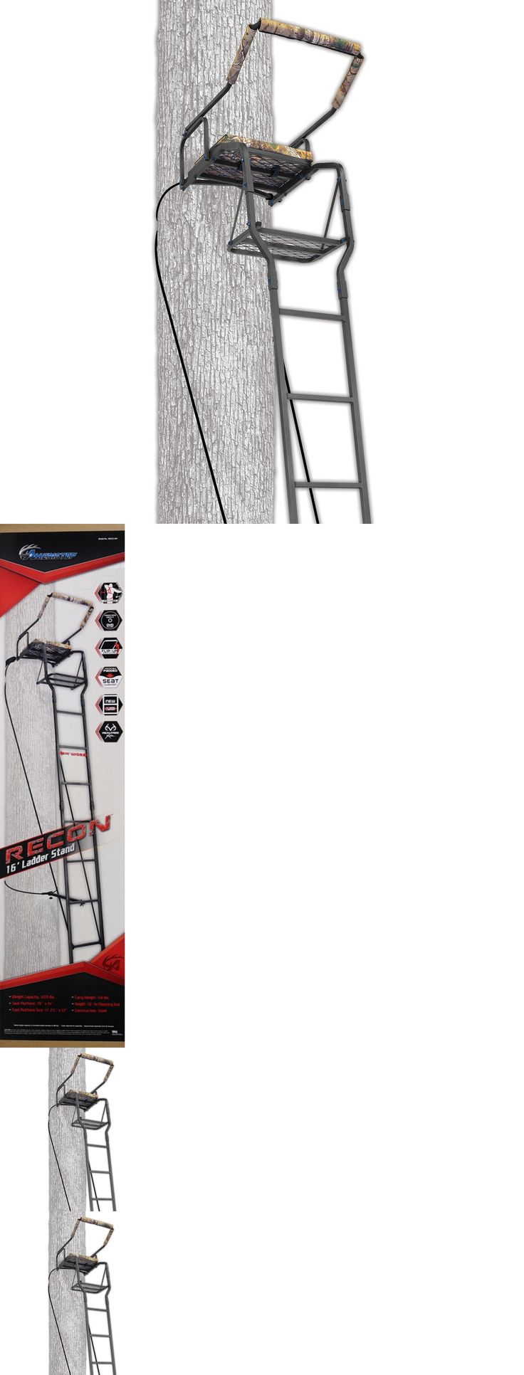 Tree Stands 52508: Ladder Tree Stand Ameristep 16 Solid Steel Hunting Shooting Stand New BUY IT NOW ONLY: $90.2