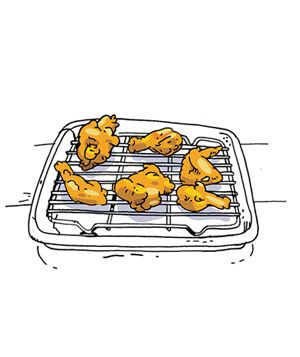 How to keep fried food crisp: Food Crispy, Chicken Recipes, Fries Chicken, Racks Sets, Pieces Direction, Chicken Pieces, Kitchens Tricks, Chicken Crispy, Fries Food