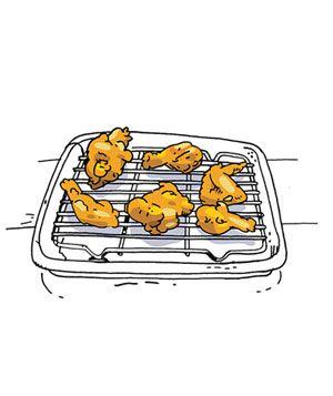 How to keep fried food crispCookies Sheet, Food Crispy, Chicken Recipe, Fries Chicken, Chicken Piece, Chicken Crispy, Fried Chicken, Fries Food, Finish Preparing