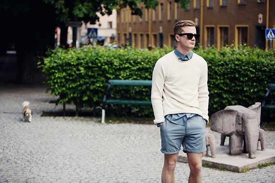 BLUE + BEIGE (by Gustav Broström) http://lookbook.nu/look/3663807-BLUE-BEIGE