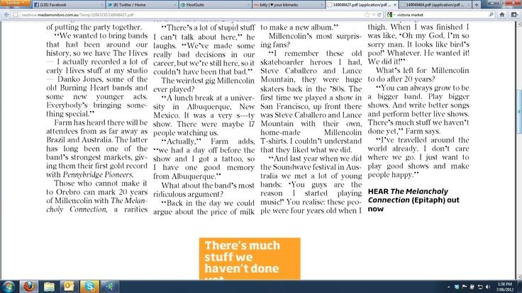 Courier Mail feature part 2 June 7 2012