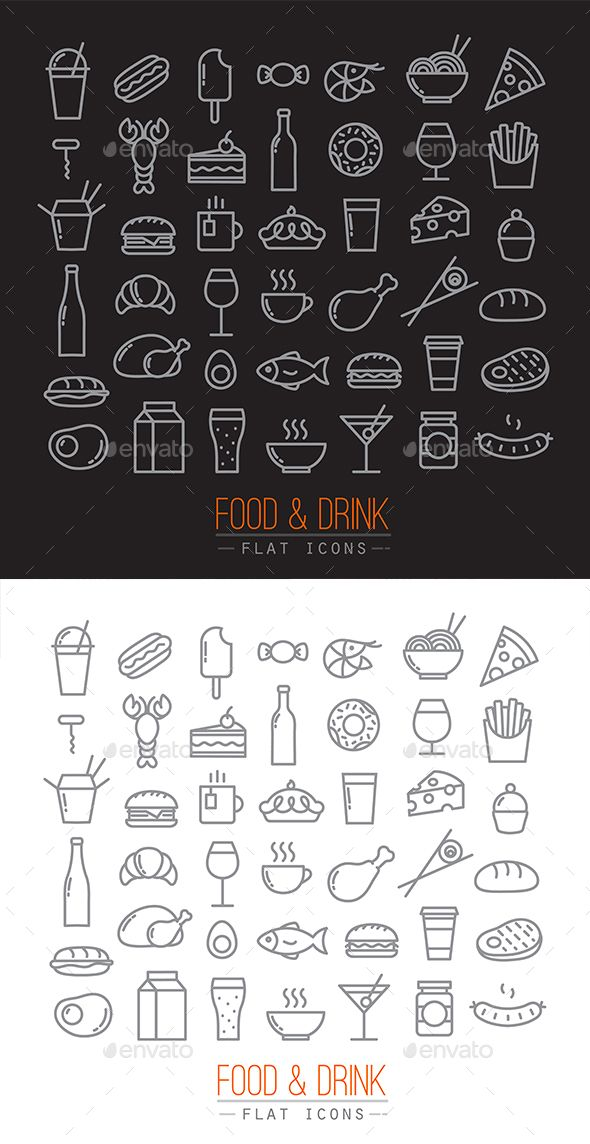 Flat Food Icons #design Download: http://graphicriver.net/item/flat-food-icons/13081241?ref=ksioks