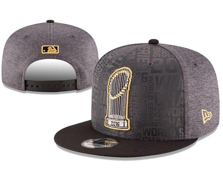 Men's Chicago Cubs New Era MLB Official 2016 World Series Champions 9FIFTY Locker Room Snapback Hat - Grey