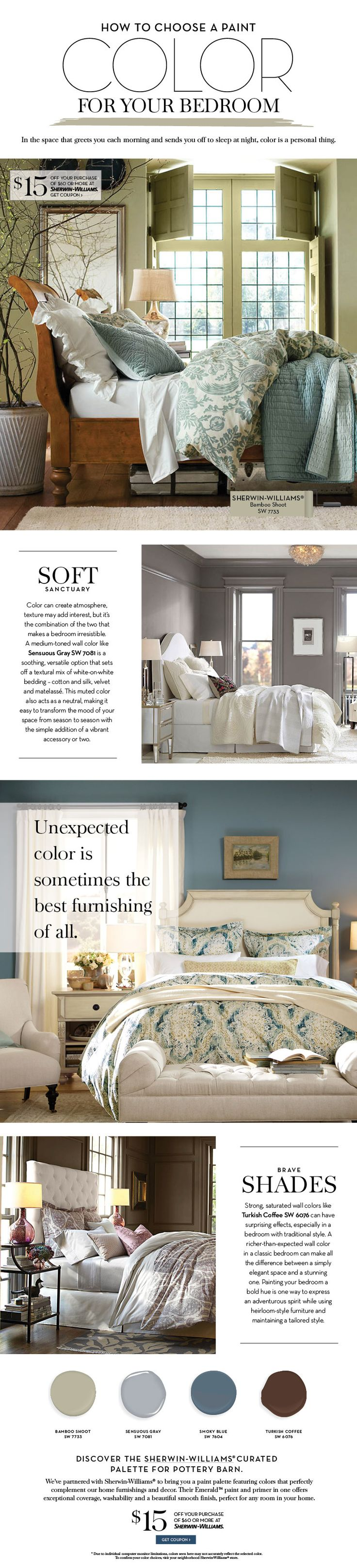 Choose a Paint Color For Your Bedroom   Pottery Barn. 284 best Paint Colors and Color Schemes images on Pinterest