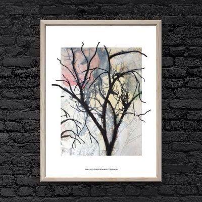Inspirationen til plakaterne fra Bruun & Brødsgaard udspringer fra naturens materialer, organiske former og grafiske mønstre. www.KortOgPlakat.dk #plakater #kunst #bruunogbrødsgaard #