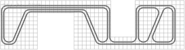 Lego Train Track Layout Geometry