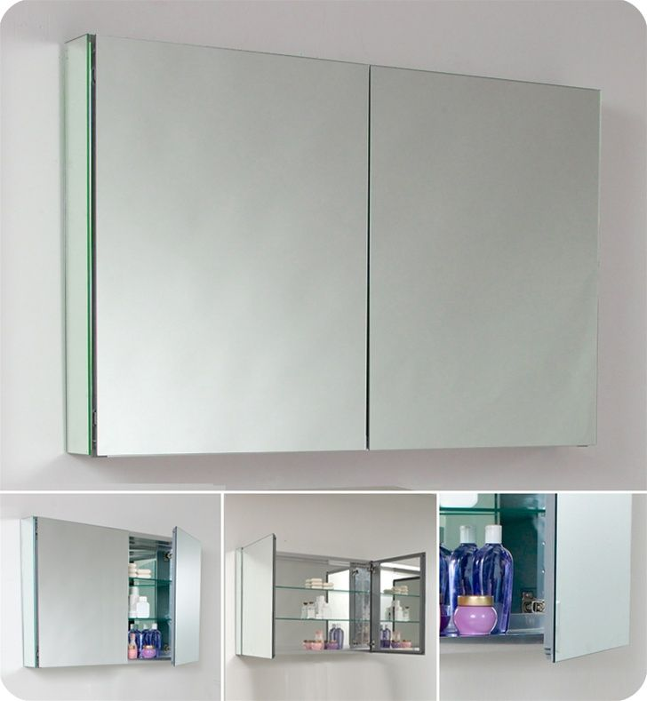 Fresca 40 Wide Bathroom Medicine Cabinet W Mirrors