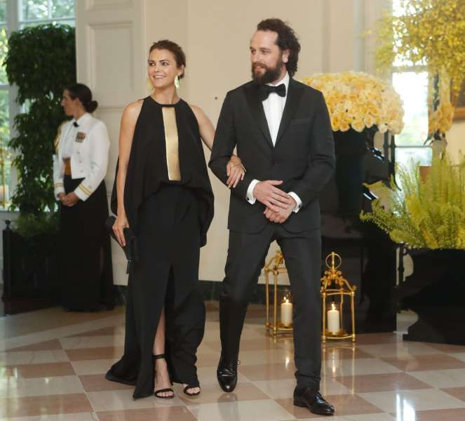 Celeb photos of the year 2016:       Keri Russell and Matthew Rhys arrive for a State Dinner for Prime Minister of Singapore Lee Hsien Loong in Washington on Aug. 2, 2016.