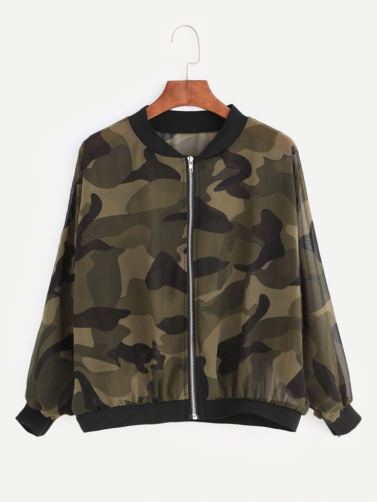 Shop Army Green Camouflage Print Chiffon Jacket online. SheIn offers Army Green Camouflage Print Chiffon Jacket & more to fit your fashionable needs.