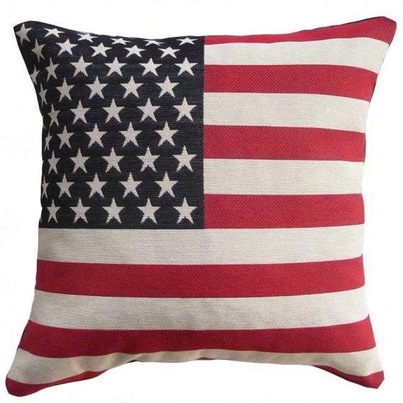 Cuscino Bandiera-Disegno Bandiera USA