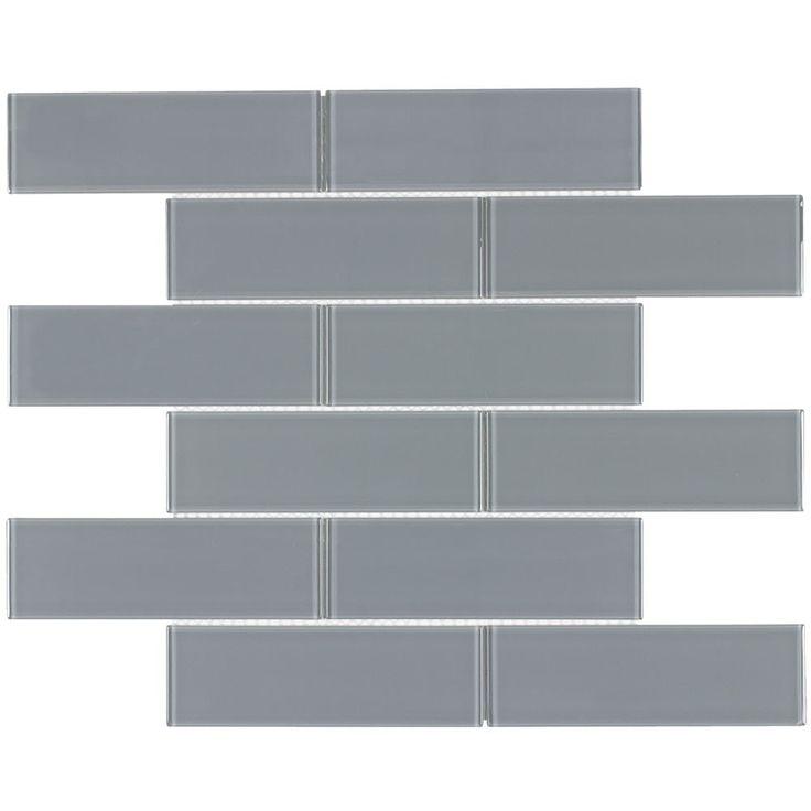 Glass Subway Tile Metropole Grey 2×6