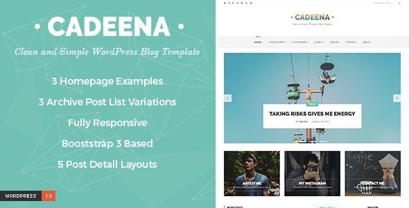 Cadeena - Simple and Clean WordPress Blogging Theme