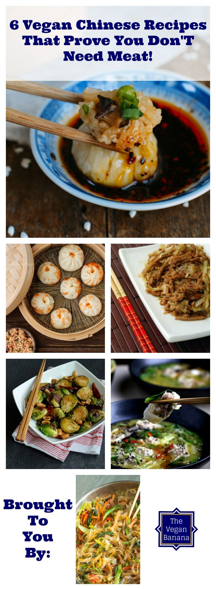 Vegan Chinese recipes to wow anyone and everyone! These 6 vegan Chinese recipes prove that you don't need meat to be yummy.