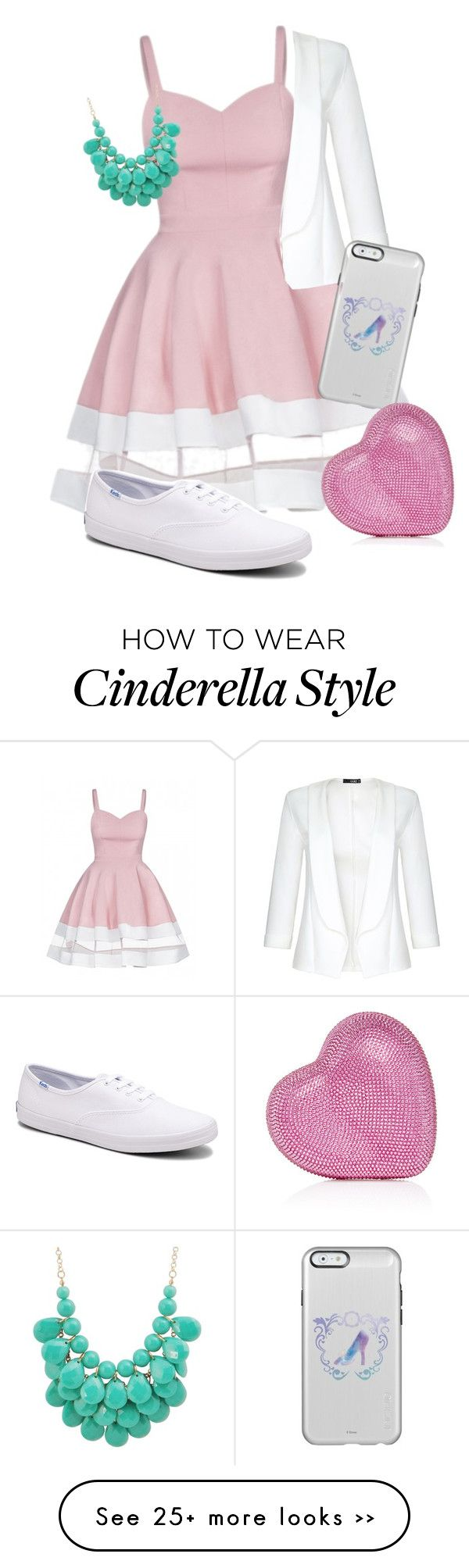 """Ella"" by tinkerbells-laughter on Polyvore featuring Keds, Quiz and Judith Leiber"
