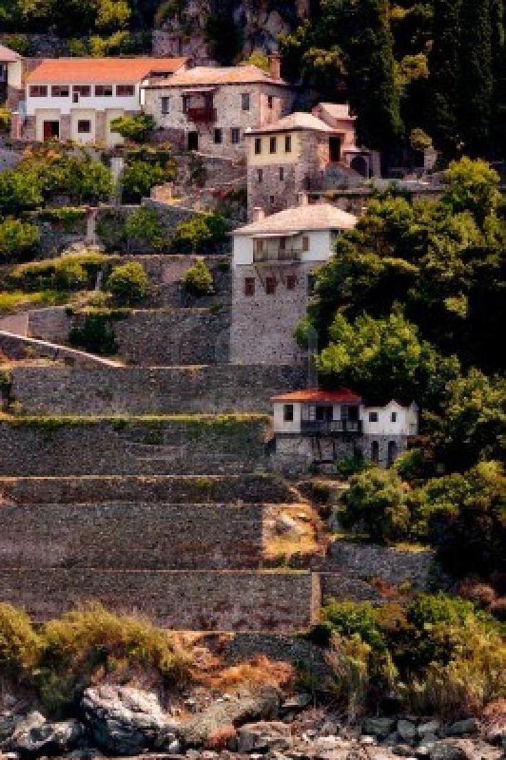 The Monastery of Stavronikita on Mount Athos, Chalkidiki