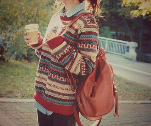 That sweater! Love it! Don't know if I could pull it off but love the color blend!