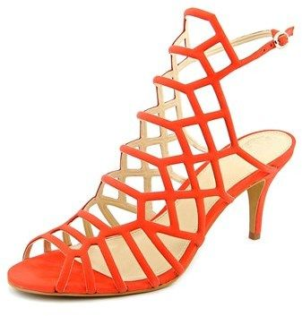 Vince Camuto Paxton Women Open Toe Leather Orange Sandals.